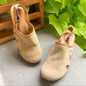 B.O.C. Beige Breathable Clog Shoes